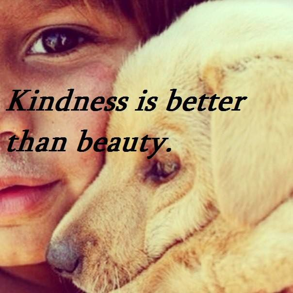 Kindness is better than beauty.