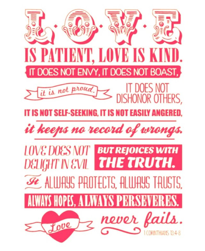 Free Printable Valentine S Quote: Love Is Patient. Love Is Kind.