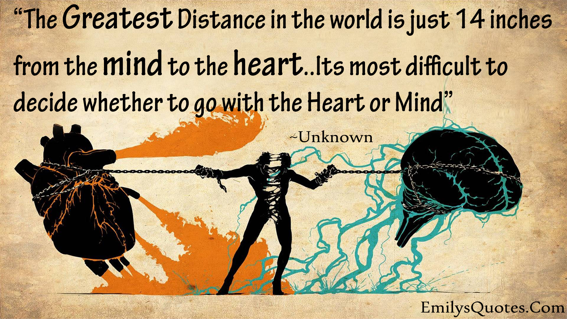 The Greatest Distance In The World Is Between Mind Amp Heart