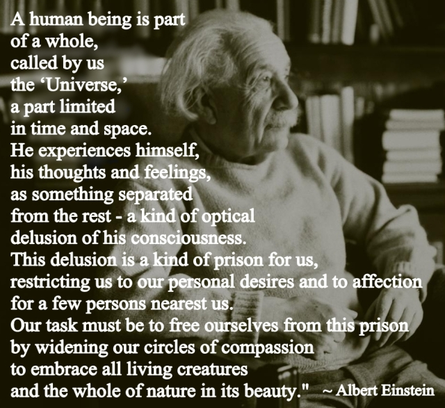 Compassion For Each Other: True Saying By Albert Einstein