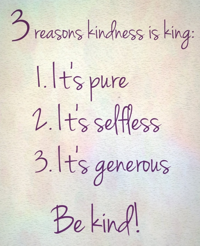 Reasons kindness is awesome